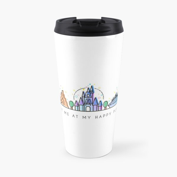 Meet me at my Happy Place Vector Orlando Theme Park Illustration Design Travel Mug