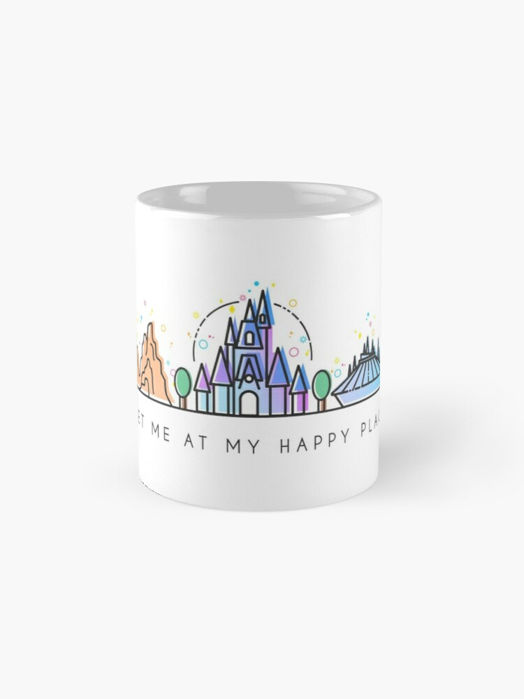 Alternate view of Meet me at my Happy Place Vector Orlando Theme Park Illustration Design Mug