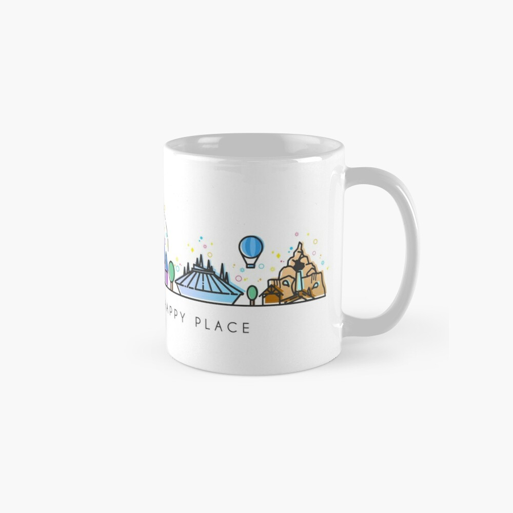 Meet me at my Happy Place Vector Orlando Theme Park Illustration Design Mug