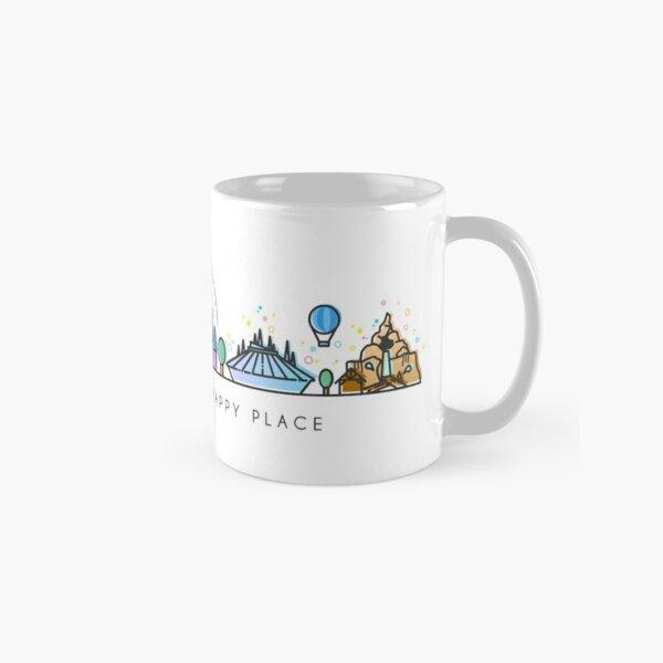 Rencontrez-moi à mon Happy Place Vector Orlando Theme Park Illustration Design Mug classique
