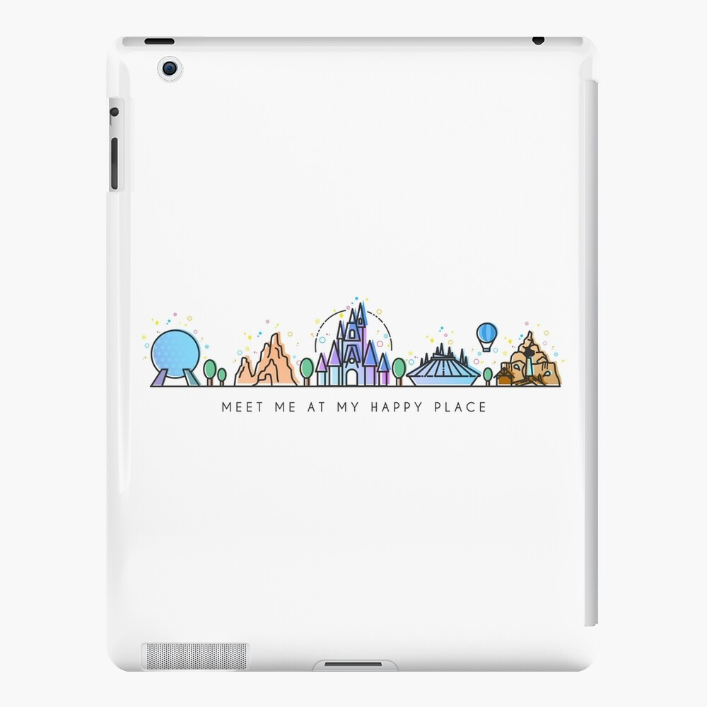 Meet me at my Happy Place Vector Orlando Theme Park Illustration Design iPad Case & Skin