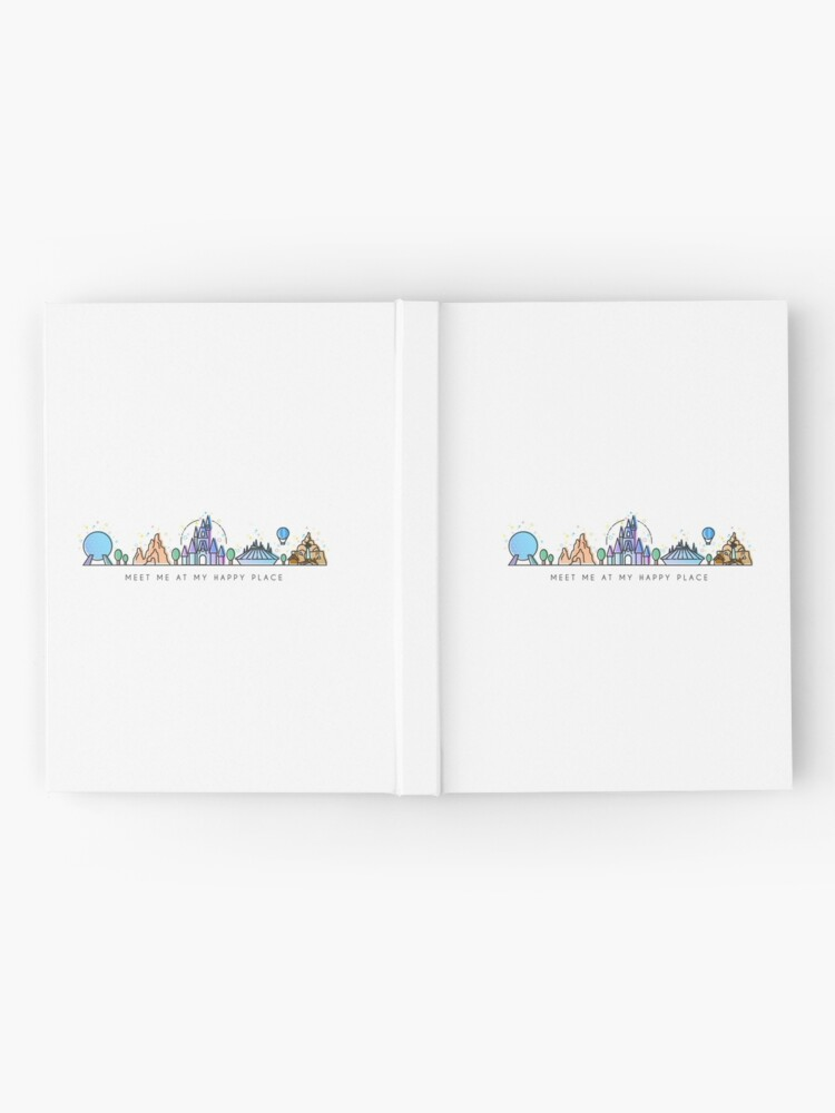 Alternate view of Meet me at my Happy Place Vector Orlando Theme Park Illustration Design Hardcover Journal