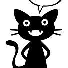 Meow Black Cat by fantasytripp