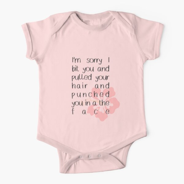 Funny Baby Shirt Cute Baby Onesie I/'m Sorry I Bit You and Pulled Your Hair and Punched You In The Face Lilo and Stich Onesie