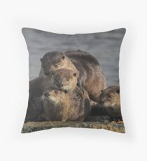 Whole Otter Love Throw Pillow