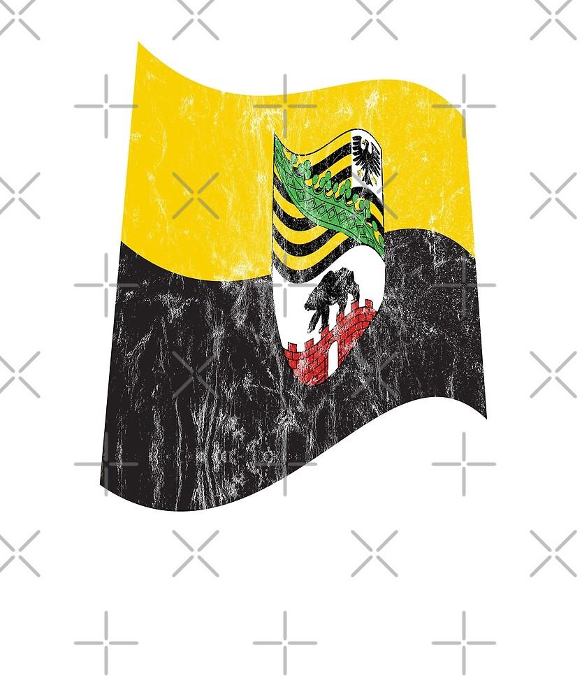 Saxony-Anhalt flag by fritzlang