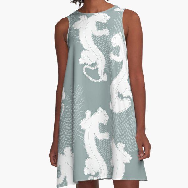 Panther On The Hunt A-Line Dress