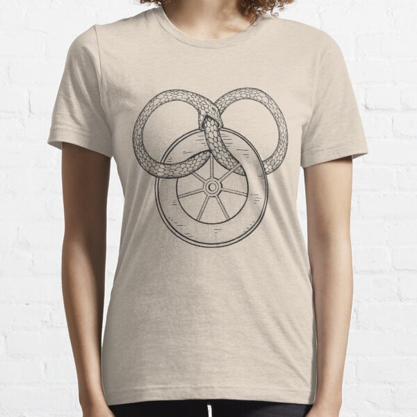 The Snake and the Wheel Essential T-Shirt