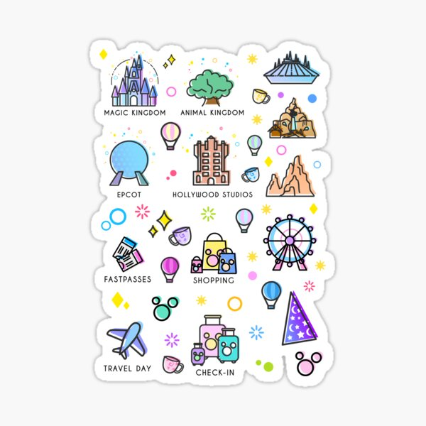 Meet me at my Happy Place Sticker Pattern Sticker