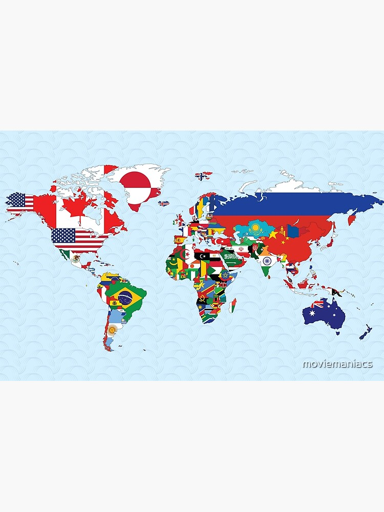 World Map made up of each countries flag by moviemaniacs