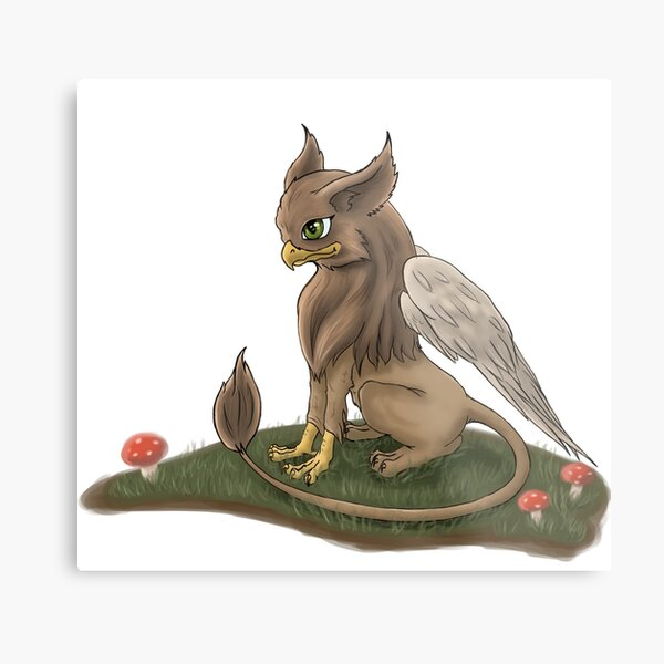 Cute Little Griffin Metal Print