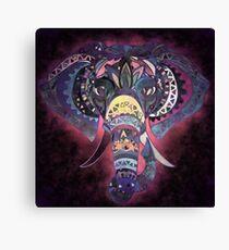 Lienzo Bohemian Mystical Pale Lavender Y Deep Mauve Elefante que brilla intensamente para cualquier persona