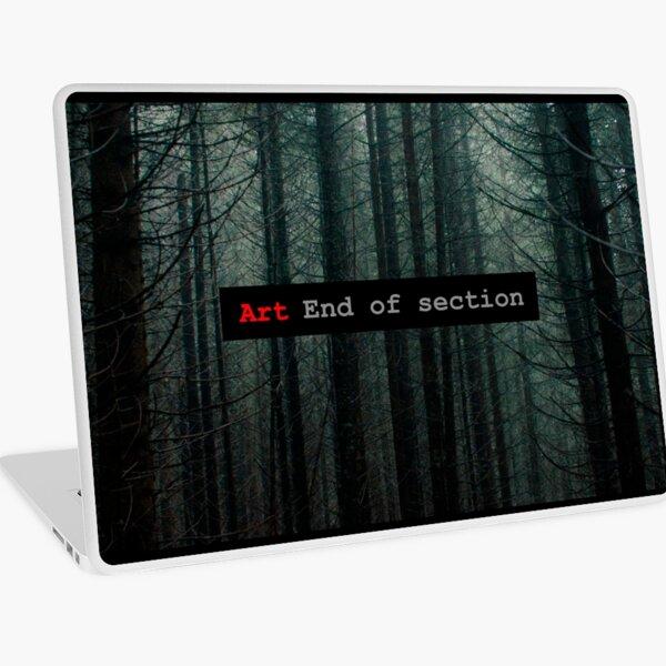 Art End of Section. Forest Vinilo para portátil