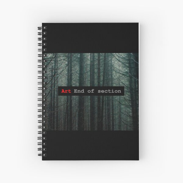 Art End of Section. Forest Cuaderno de espiral