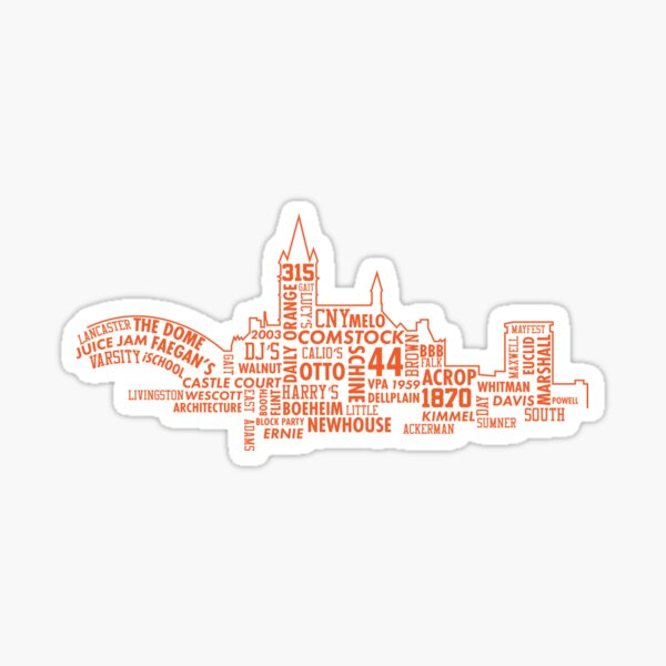 Syracuse University Skyline Sticker