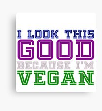 vegan and good looking Canvas Print