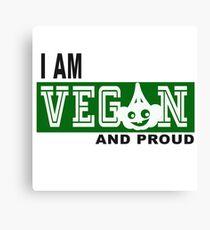 vegan and proud Canvas Print