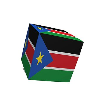 South Sudan flag cubed by stuwdamdorp