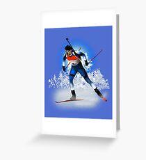biathlon Greeting Card