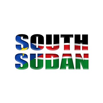 South Sudan flag overlay by stuwdamdorp