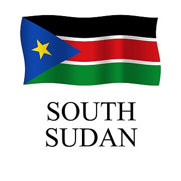 South Sudan Flag waving plus country name by stuwdamdorp
