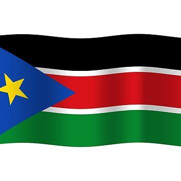 South Sudan flag waving by stuwdamdorp