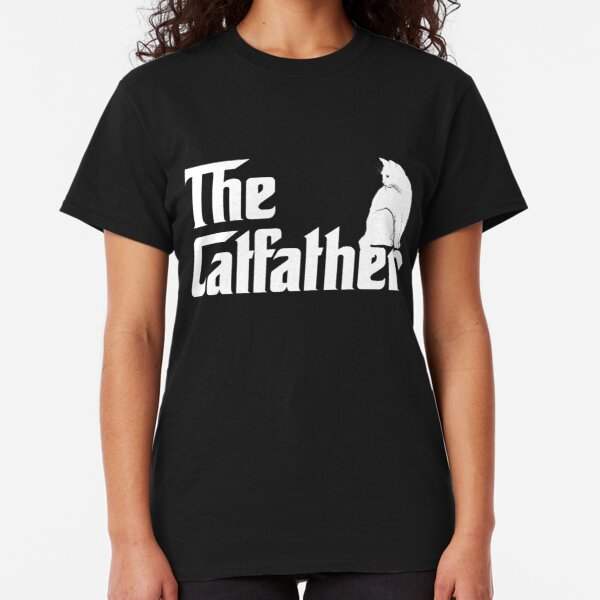 The Catfather T-Shirt Funny Cat Parody Men Fathers Day Gift Classic T-Shirt
