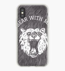 Bear with me - fur in the background iPhone Case