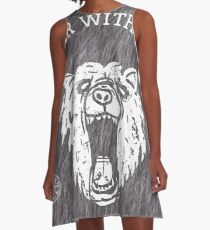 Bear with me - fur in the background A-Line Dress