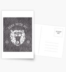 Bear with me - fur in the background Postcards
