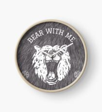 Bear with me - fur in the background Clock