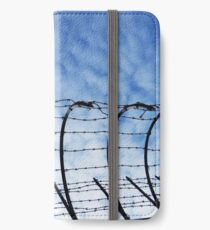Barbed Wire with Sky iPhone Wallet/Case/Skin