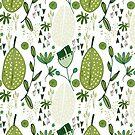 Mod Emerald Forest white #homedecor by susycosta