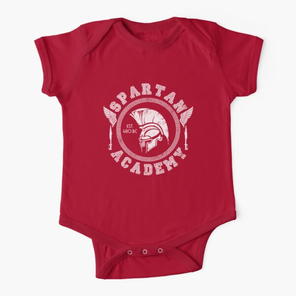 Spartan Academy (White) Short Sleeve Baby One-Piece