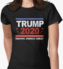 Trump 2020 - Trump For President Election Mens Womens T Shirt - Trump is True 2020 Tees Women's Fitted T-Shirt