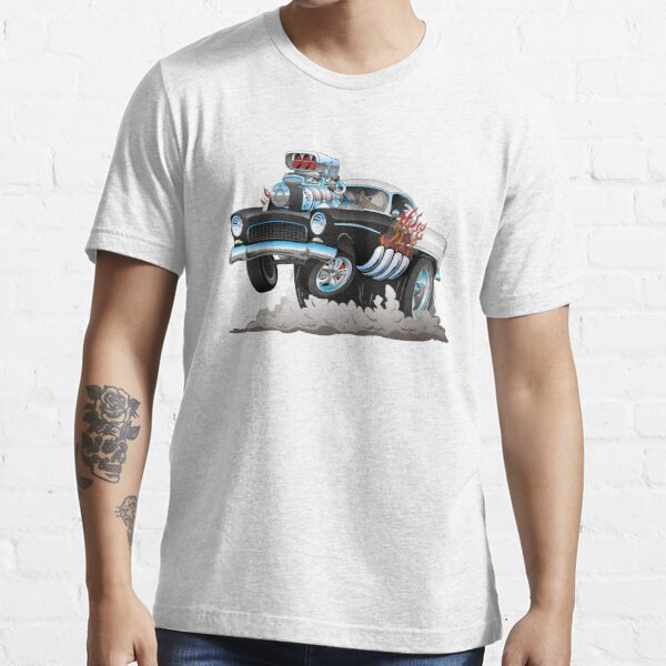Classic 55 Hot Rod Funny Car Cartoon Essential T-Shirt