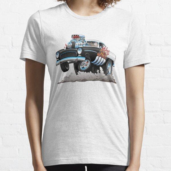 Classic 55 Hot Rod Funny Car Cartoon Essential T-Shirt