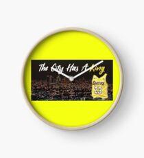 Lebron James LA Lakers Sticker Clock