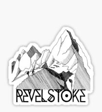 Revelstoke BC - Hiking the Mountains - Original Pen and Ink Illustration Sticker