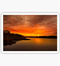 Huntington Beach State Park Sunset Sticker