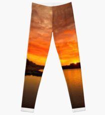 Huntington Beach State Park Sunset Leggings