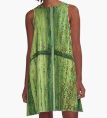 Green Erosion A-Line Dress