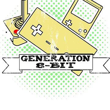8 Bit Gamer T Shirt by IGCD