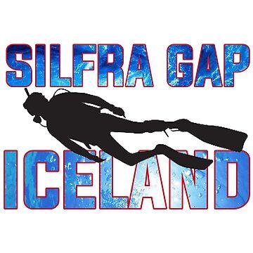 Silfra Gap Iceland Sticker by INFIDEL