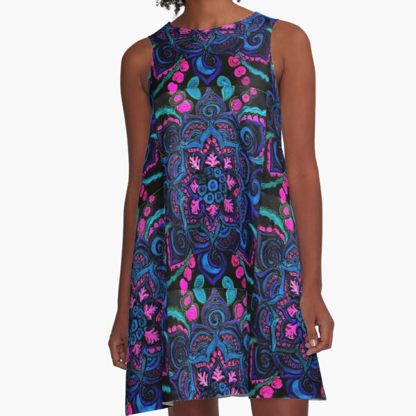 Uv mandala  A-Line Dress