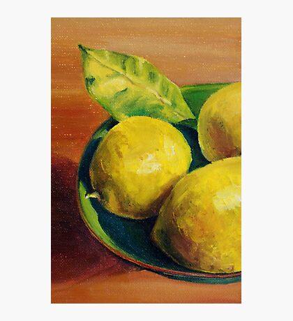 Lemons Photographic Print