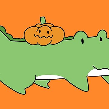 Halloween Pumpkin Alligator by SaradaBoru