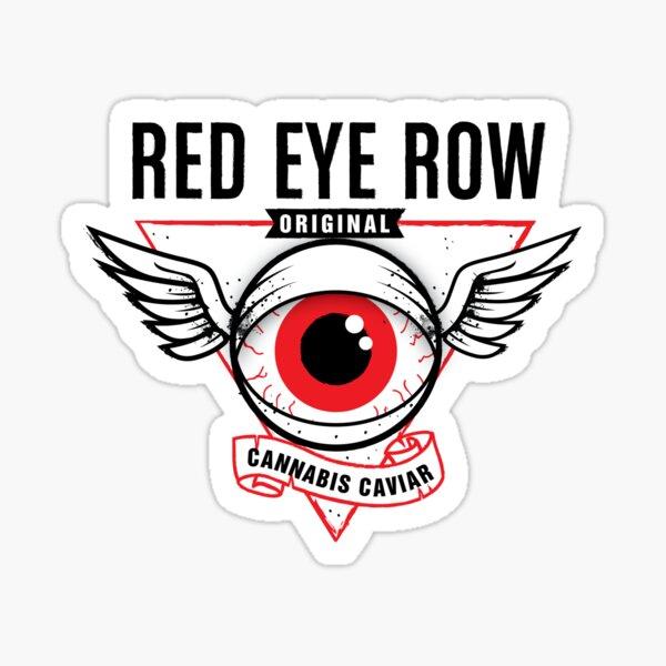 Red Eye Row Label Sticker