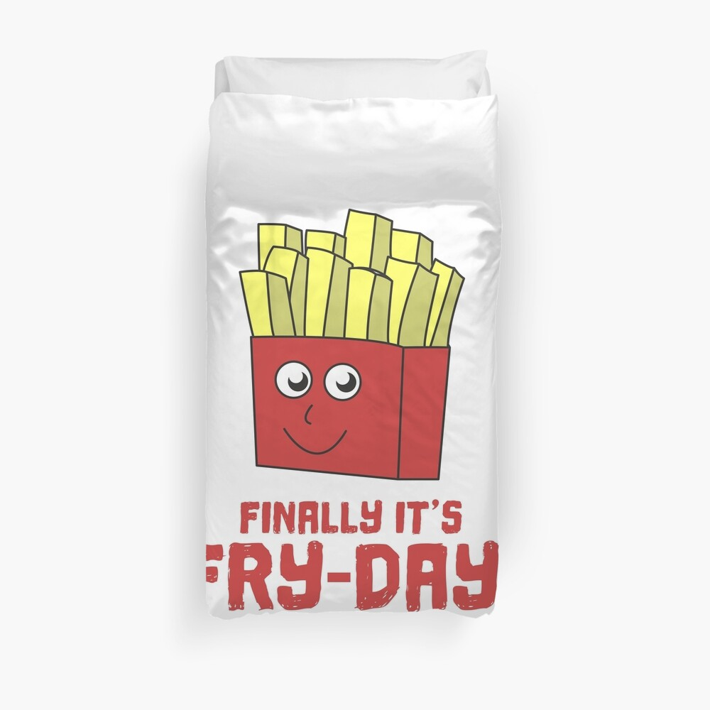 Awesome Trend Design Fryday Tshirt Finally it s friday Bettbezug