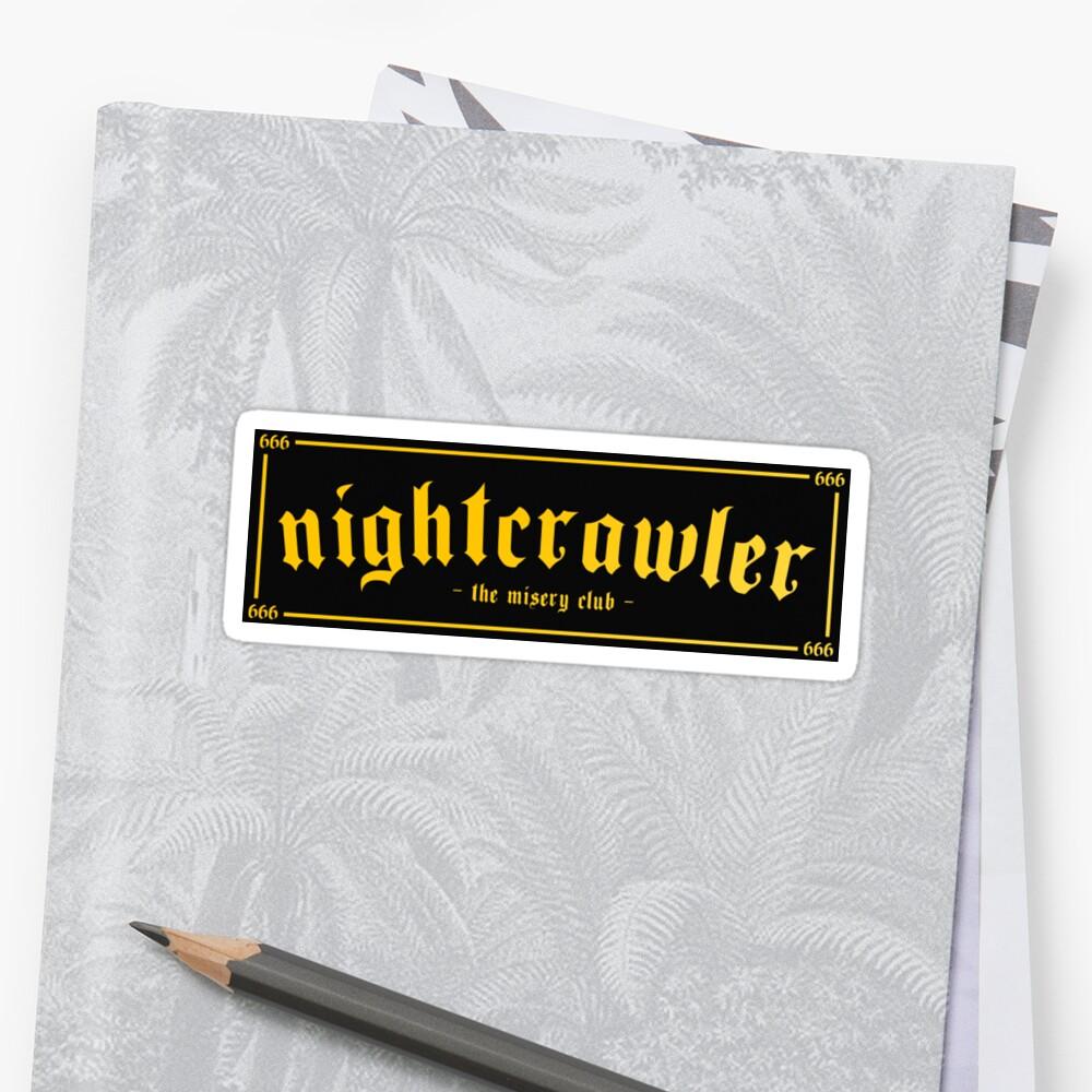 NIGHTCRAWLER - The Misery Club Black/Yellow Sticker Front
